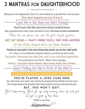 3 Mantras for Life and Daughterhood